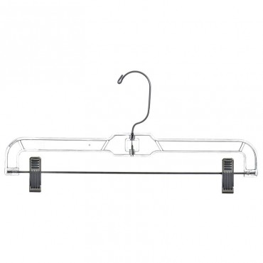 """14"""" Pant/skirt hanger with vinyl-cushioned clips HAN-5131"""
