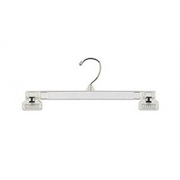 Clear bottom Hanger w/ Fixed Clips
