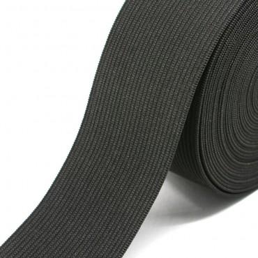 "Elastic 1 3/4"" Black Knitted"