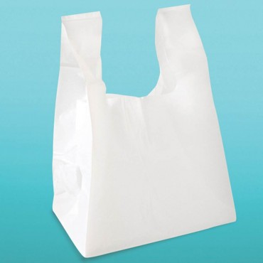 T-shirt Bag 10x5x19 White